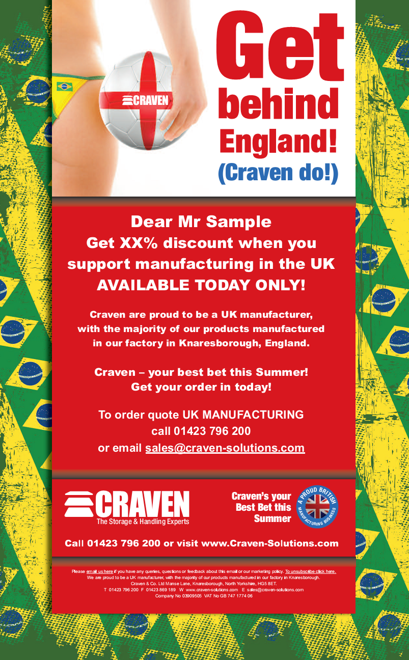 Craven World Cup Ad